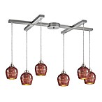 ELK Lighting Fusion 6-Light Pendant with Copper Mosaic Glass