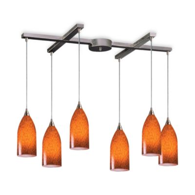 ELK Lighting Verona 6-Light Pendant with Espresso Glass