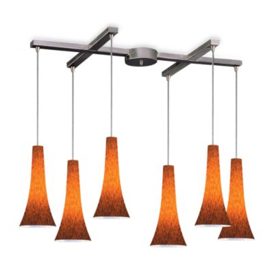 ELK Lighting Tromba 6-Light Pendant with Espresso Glass