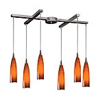 ELK Lighting Lungo 6-Light Pendant with Espresso Glass