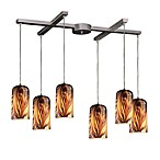 ELK Lighting Molten 6-Light Pendant with Molten Sunset Glass