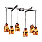 ELK Lighting Fuego 6-Light Pendant with Jasper Glass