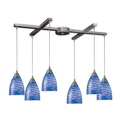 ELK Lighting Arco Baleno 6-Light Pendant with Sapphire Glass