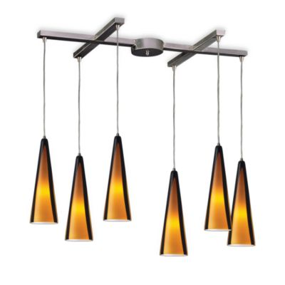 ELK Lighting Desert Winds 6-Light Pendant with Sahara Glass