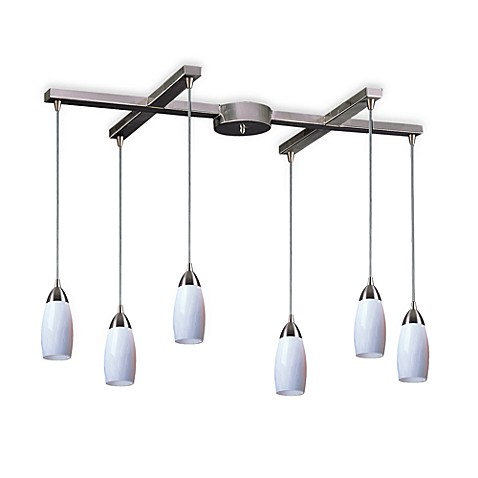 ELK Lighting Milan 6-Light Pendant with Simply White Glass