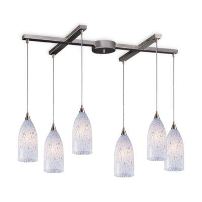 ELK Lighting Verona 6-Light Pendant with Snow White Glass