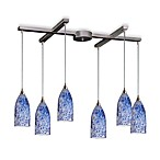 ELK Lighting Verona 6-Light Pendant with Starlight Blue Glass