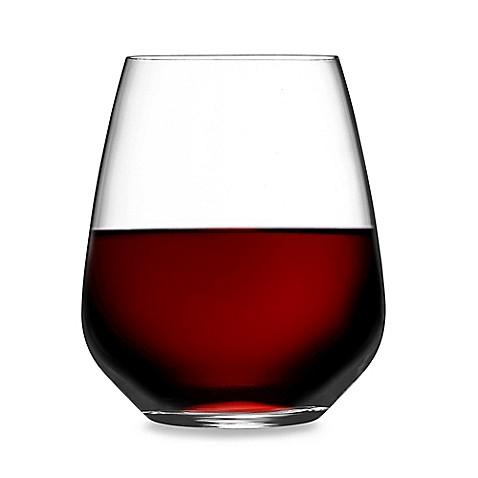 Luigi Bormioli Crescendo Stemless Wine Glass Set Of 4