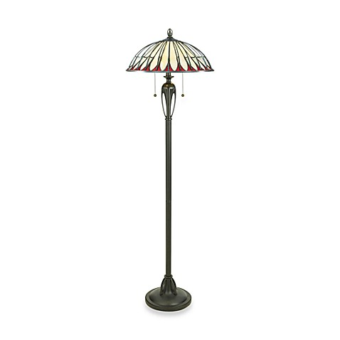 Quoizel Alahambre Tiffany 2-Light Floor Lamp
