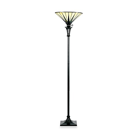 Quoizel®  Gotham 1-Light Tiffany Torchiere Floor Lamp