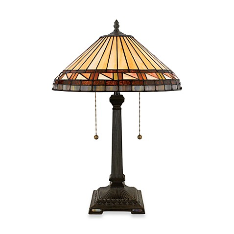 Quoizel®  Estacado 2-Light Tiffany Table Lamp