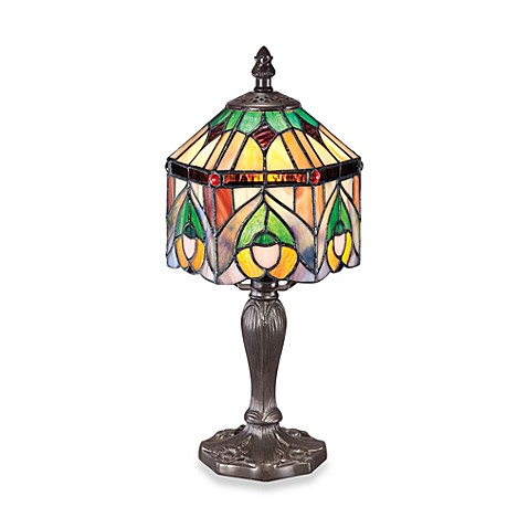 Quoizel Tiffany 1-Light Table Lamp in Vintage Bronze