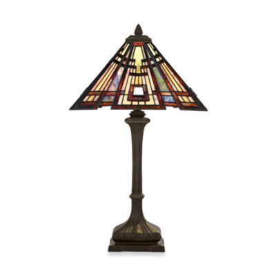 Quoizel® Classic Craftsman 2-Light Tiffany Table Lamp