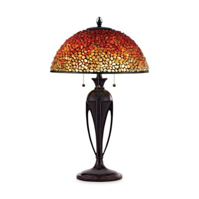 Quoizel® Pomez 3-Light Tiffany Table Lamp