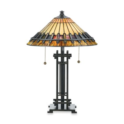 Quoizel® Chastain Tiffany 2-Light Table Lamp