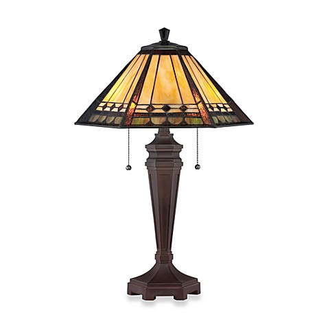 Quoizel®  Arden Tiffany 2-Light Table Lamp