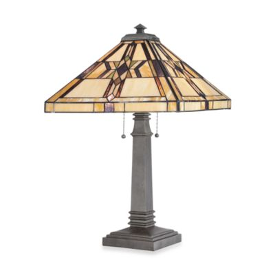 Quoizel® Finton 2-Light Tiffany Table Lamp
