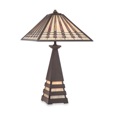 Quoizel® Banks Tiffany 2-Light Table Lamp
