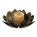 Sterling Industries Lotus Votive in Burnt Briarwood