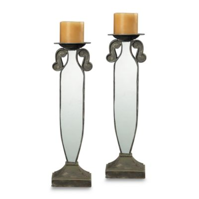 Sterling Industries Mirrored Candle Holders (Set of 2)