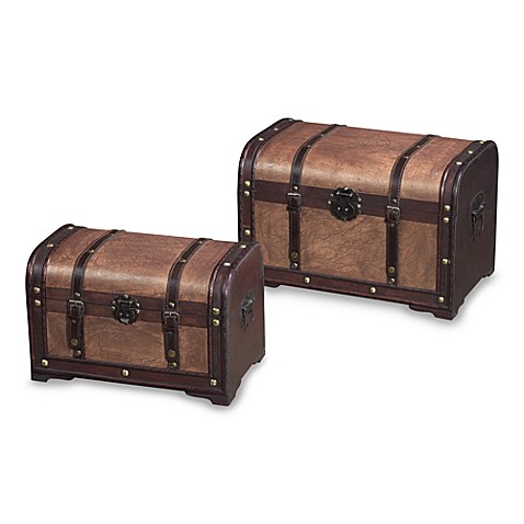 Sterling Industries Curved Storage Chests in Tan (Set of 2)