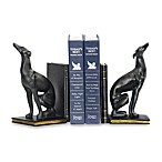 Sterling Home Black Greyhound Bookends