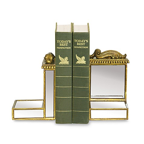 Sterling Home Gold Framed Mirrored Bookends