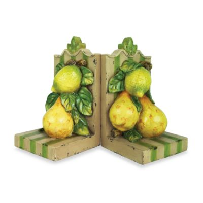 Sterling Home Le Jardin Lemon & Pear Bookends