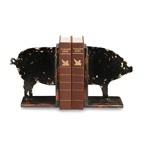 Sterling Home Distressed Pig Bookends