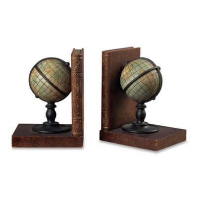Sterling Home Atlas Globe Bookends