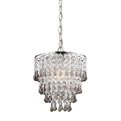 Sterling Industries Teak-Toned and Clear Crystal Pendant