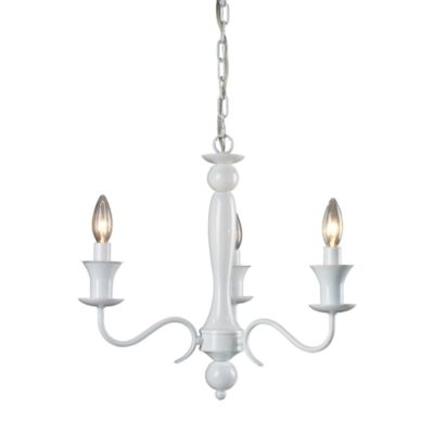 Sterling Industries Gloss White 3-Light Chandelier