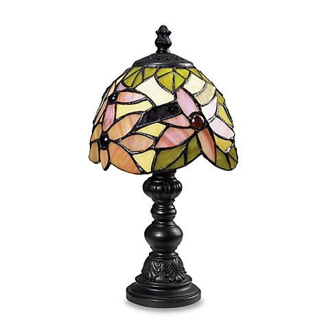 Dimond Lighting Tiffany Mini Accent Lamp with Pink/Green Shade