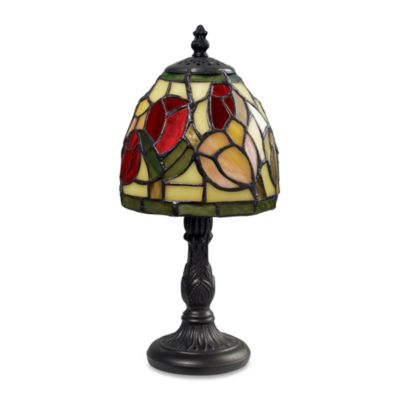 Dimond Lighting Tiffany Mini Table Lamp with Red Shade