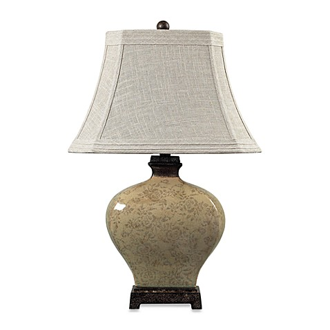 Dimond Lighting 29-Inch Distressed Floral Ceramic Table Lamp