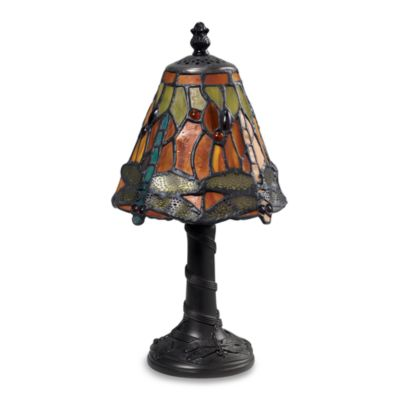 Dimond Lighting Tiffany Mini Table Lamp with Dragonfly Shade