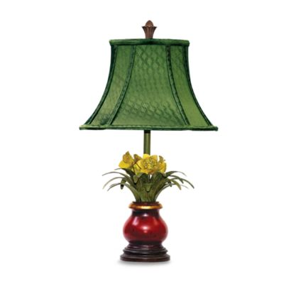 Sterling Industries Flowers in Ruby Vase Table Lamp