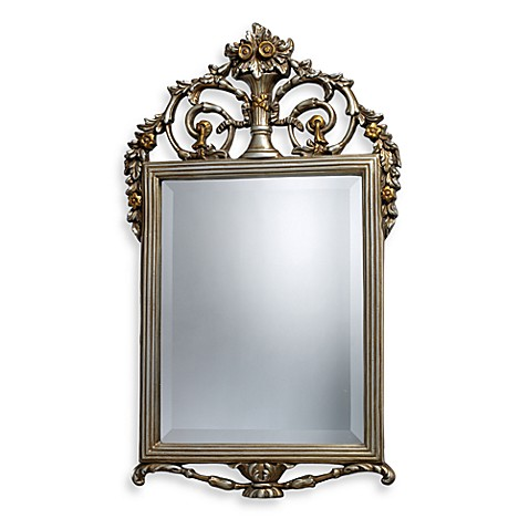 Stewart Mirror in Antique Silver Finish - Bed Bath & Beyond