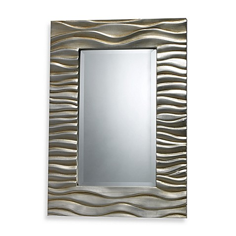 Buy Transcend Mirror in Silver Leaf Finish from Bed Bath