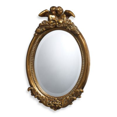 Bronville Mirror in Antique Gold Leaf Finish