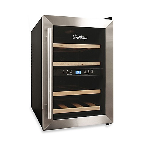 Vinotemp® VT-12TEDS-2Z Dual Zone 12-Bottle Thermoelectric Wine Cooler