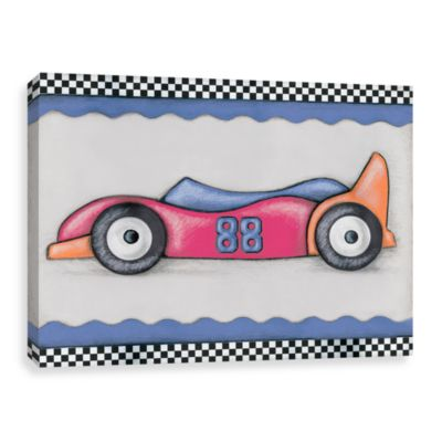 #88 Blue and Red Race Car Canvas Wall Art