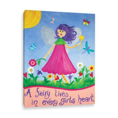 A Fairy Lives in Every Girl's Heart Canvas Wall Art