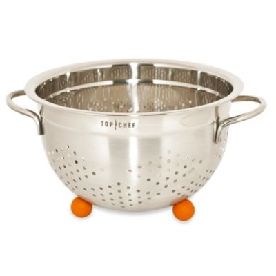 Top Chef Stainless Steel Colander with Rubber Feet