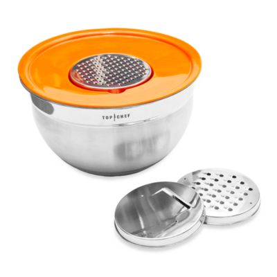 Top Chef 5-Quart Mixing Bowl with Lid & Graters