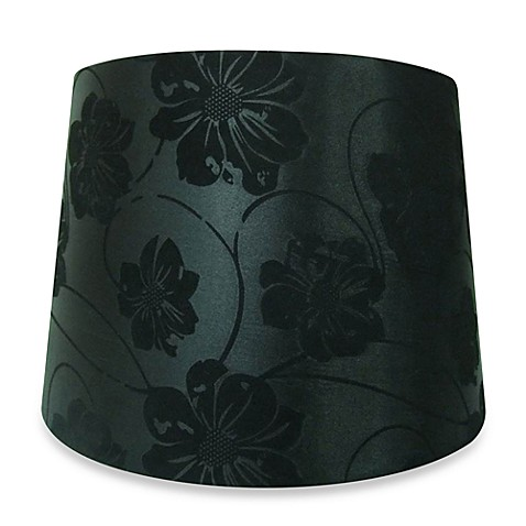 Black Flocked 13-Inch Lamp Shade