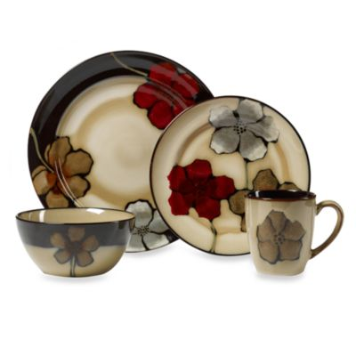Pfaltzgraff® Painted Poppies 16-Piece Dinnerware Set