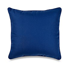 Outdoor 17-Inch Welt Cord Pillow in Blue