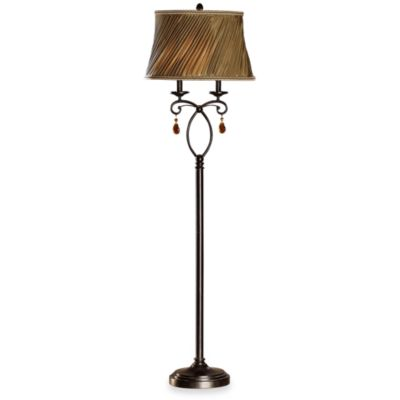 Crestview Collection Rochelle 2-Light Floor Lamp