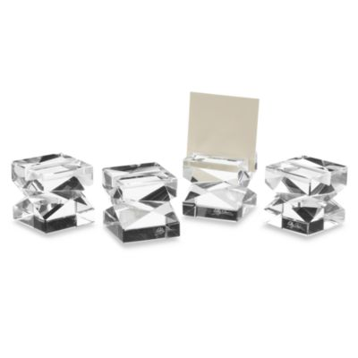 Oleg Cassini Lexington Place Card Holders (Set of 4)